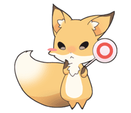 Girly fox sticker #4475078