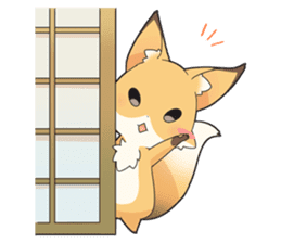 Girly fox sticker #4475089