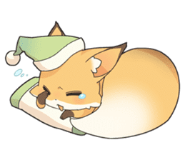 Girly fox sticker #4475093