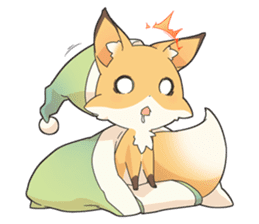 Girly fox sticker #4475094