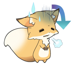 Girly fox sticker #4475100