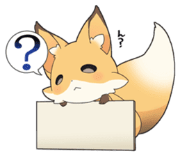 Girly fox sticker #4475102