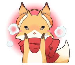 Girly fox sticker #4475109
