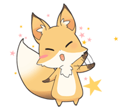 Girly fox sticker #4475111