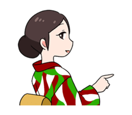 Elegant kimono woman sticker #4475514