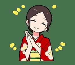 Elegant kimono woman sticker #4475516