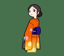 Elegant kimono woman sticker #4475522