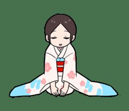 Elegant kimono woman sticker #4475525