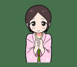 Elegant kimono woman sticker #4475533