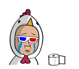 Kai,YesMan with a Tissue (ENG) sticker #4476517