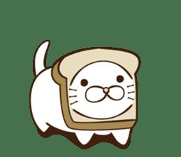 toast cat sticker #4489672