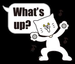 Costume of the cat -English1- sticker #4490280