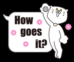 Costume of the cat -English1- sticker #4490282