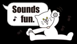 Costume of the cat -English1- sticker #4490283
