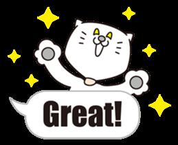 Costume of the cat -English1- sticker #4490285