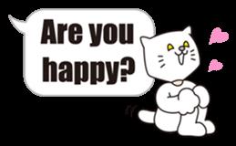 Costume of the cat -English1- sticker #4490286