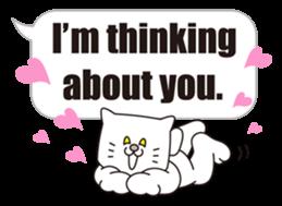 Costume of the cat -English1- sticker #4490287