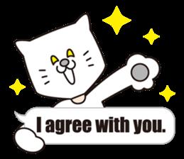 Costume of the cat -English1- sticker #4490289