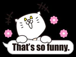 Costume of the cat -English1- sticker #4490293