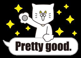 Costume of the cat -English1- sticker #4490294