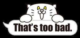 Costume of the cat -English1- sticker #4490298