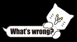 Costume of the cat -English1- sticker #4490300