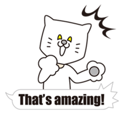 Costume of the cat -English1- sticker #4490301