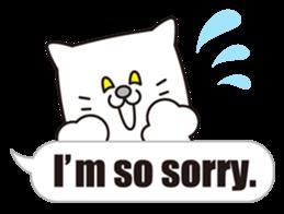 Costume of the cat -English1- sticker #4490306
