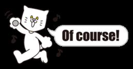 Costume of the cat -English1- sticker #4490308