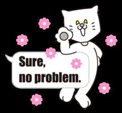 Costume of the cat -English1- sticker #4490311