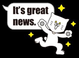 Costume of the cat -English1- sticker #4490313