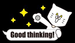 Costume of the cat -English1- sticker #4490314