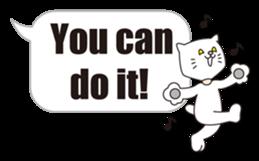 Costume of the cat -English1- sticker #4490315
