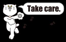 Costume of the cat -English1- sticker #4490318
