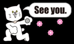 Costume of the cat -English1- sticker #4490319