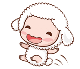 Happy Lucky Sheep sticker #4494837