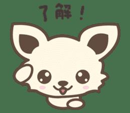 "chihuahua ""kawaii"" stamp sticker #4506826"