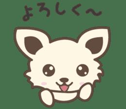 "chihuahua ""kawaii"" stamp sticker #4506828"