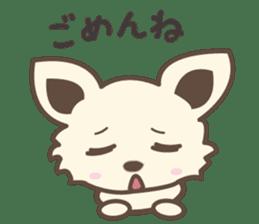 "chihuahua ""kawaii"" stamp sticker #4506833"
