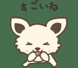 "chihuahua ""kawaii"" stamp sticker #4506839"