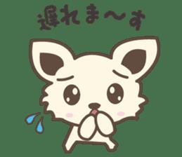 "chihuahua ""kawaii"" stamp sticker #4506844"