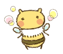 Fluffy bee sticker #4518176