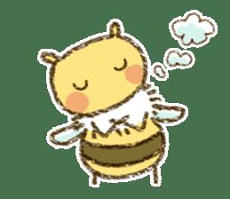 Fluffy bee sticker #4518179