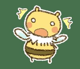 Fluffy bee sticker #4518180