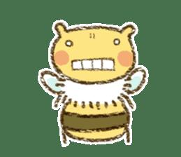 Fluffy bee sticker #4518182