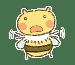 Fluffy bee sticker #4518184