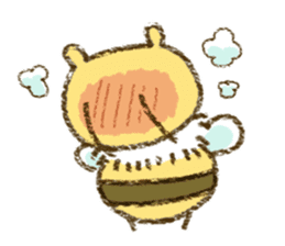 Fluffy bee sticker #4518185