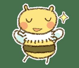 Fluffy bee sticker #4518186
