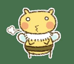 Fluffy bee sticker #4518188