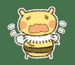 Fluffy bee sticker #4518189